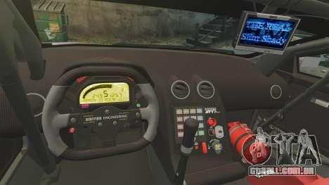 Lamborghini Murcielago RSV FIA GT1 v2.0 para GTA 4 vista interior