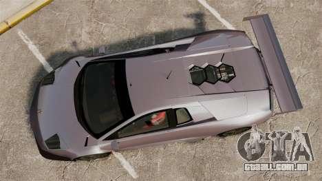 Lamborghini Murcielago RSV FIA GT1 v2.0 para GTA 4 vista direita