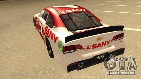 Chevrolet SS NASCAR No. 7 Sany para GTA San Andreas vista traseira