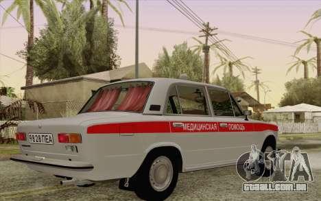 VAZ 21011 assistência médica para GTA San Andreas vista traseira