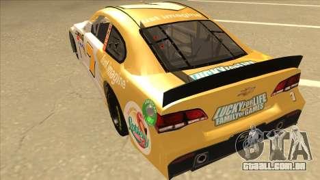 Chevrolet SS NASCAR No. 7 Florida Lottery para GTA San Andreas vista traseira