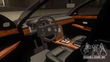 Volkswagen Passat 2.0 Turbo para GTA San Andreas vista interior