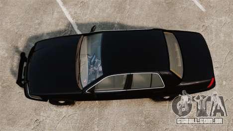 Ford Crown Victoria 2008 FBI para GTA 4 vista direita