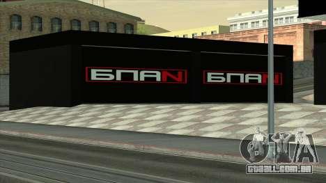 A garagem em Doherty BPAN para GTA San Andreas terceira tela