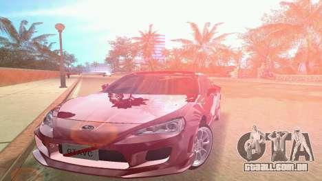 Subaru BRZ Type 3 para GTA Vice City vista traseira esquerda