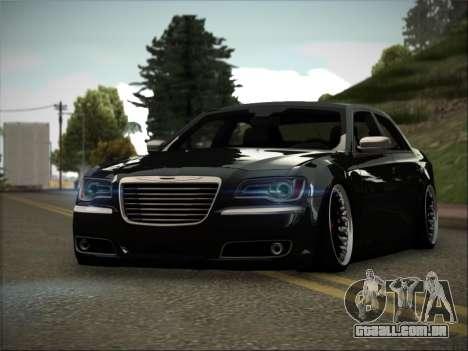 Chrysler 300C Stance para GTA San Andreas traseira esquerda vista