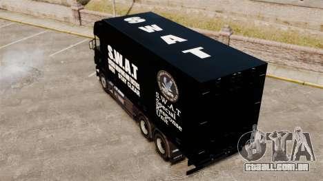 Novo caminhão da SWAT para GTA 4 traseira esquerda vista