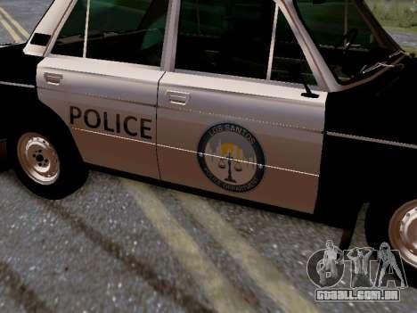 Polícia de Los Santos VAZ 2106 para GTA San Andreas vista inferior