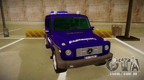 Mercedes Benz G8 Carabinieri para GTA San Andreas esquerda vista