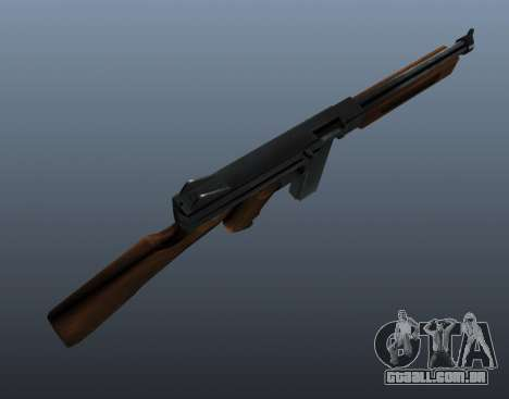 V1 de metralhadora M1a1 Thompson para GTA 4 terceira tela