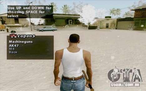 Weapons Menu Mod para GTA San Andreas segunda tela