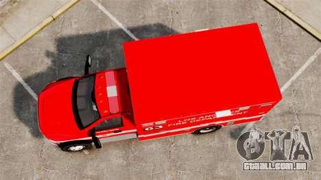Dodge Ram 3500 2011 LAFD Ambulance [ELS] para GTA 4 vista direita