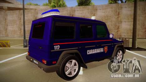 Mercedes Benz G8 Carabinieri para GTA San Andreas vista direita