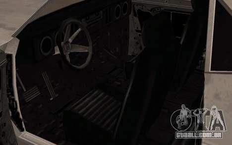 Bala de FlatOut para GTA San Andreas vista traseira