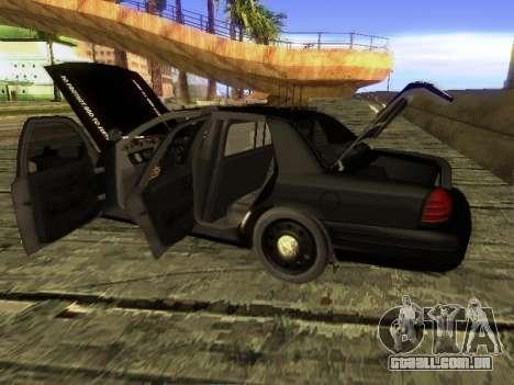 Ford Crown Victoria Police Interceptor para GTA San Andreas traseira esquerda vista
