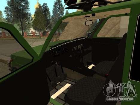 VAZ 21213 Niva 4x4 Off Road para GTA San Andreas vista traseira