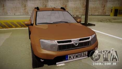 Dacia Duster Elite para GTA San Andreas esquerda vista
