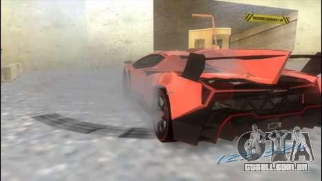 Lamborghini Veneno para GTA Vice City vista traseira esquerda