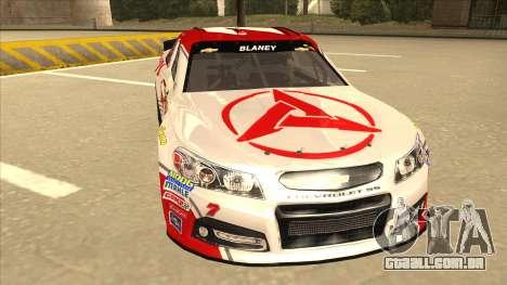 Chevrolet SS NASCAR No. 7 Sany para GTA San Andreas esquerda vista
