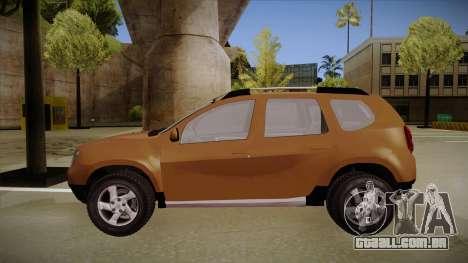 Dacia Duster Elite para GTA San Andreas traseira esquerda vista