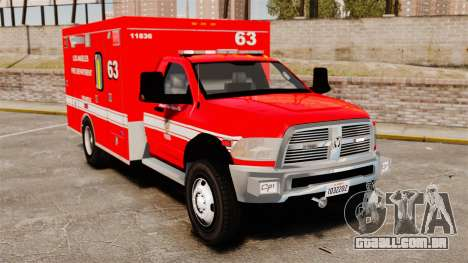Dodge Ram 3500 2011 LAFD Ambulance [ELS] para GTA 4
