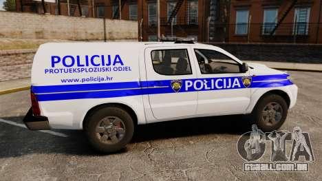 Toyota Hilux Croatian Police v2.0 [ELS] para GTA 4 esquerda vista