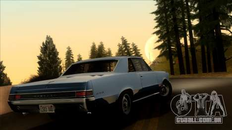 Pontiac Tempest LeMans GTO Hardtop Coupe 1965 para GTA San Andreas esquerda vista