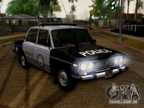 Polícia de Los Santos VAZ 2106 para GTA San Andreas vista direita