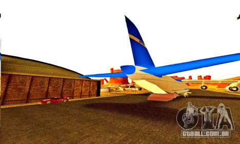 Andromada GTA V para GTA San Andreas vista interior