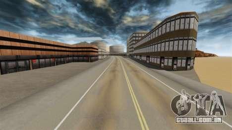Destino cidade deserta para GTA 4 por diante tela