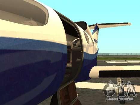 A vitória épica do Microsoft Flight Simulator para GTA San Andreas vista direita