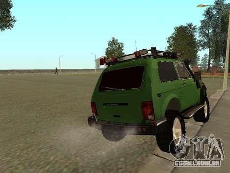 VAZ 21213 Niva 4x4 Off Road para GTA San Andreas traseira esquerda vista