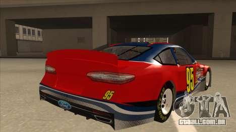 Ford Fusion NASCAR No. 95 para GTA San Andreas vista direita