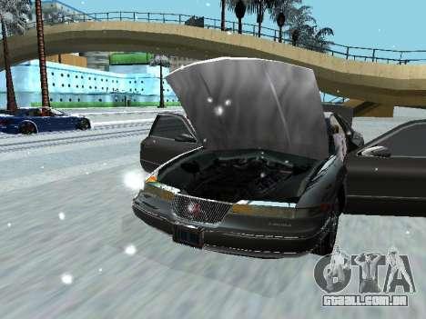 Lincoln Continental Mark VIII 1996 para GTA San Andreas traseira esquerda vista