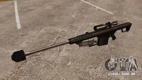 O Barrett M82 sniper rifle v2 para GTA 4 terceira tela