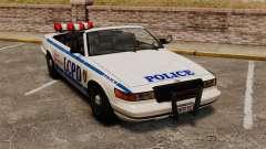 A versão conversível da polícia