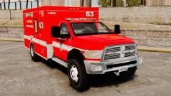 Dodge Ram 3500 2011 LAFD Ambulance [ELS]