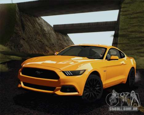 Ford Mustang GT 2015 para GTA San Andreas vista interior