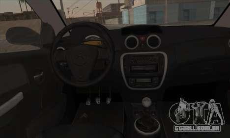 Citroen C2 Tuned para GTA San Andreas vista traseira