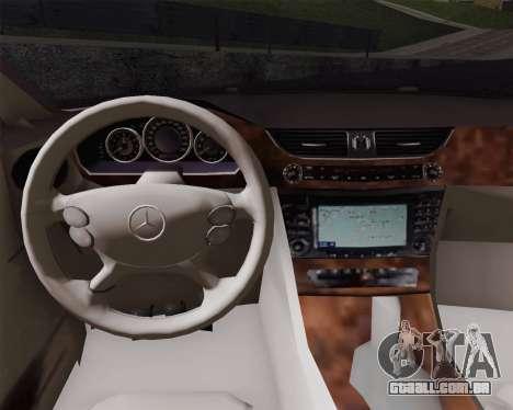 Mercedes-Benz CLS500 para GTA San Andreas traseira esquerda vista