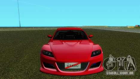 Mazda RX8 Type 1 para GTA Vice City deixou vista