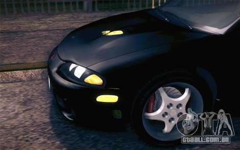 Mitsubishi Eclipse Fast and Furious para GTA San Andreas vista interior