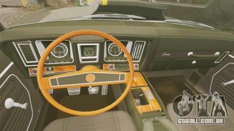 Chevrolet Camaro Z28 para GTA 4 vista interior
