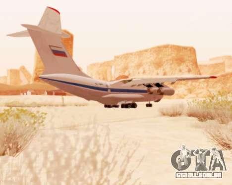 Il-76td v 2.0 para GTA San Andreas vista traseira