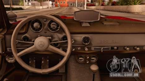 Mercedes-Benz 300SL Gullwing para GTA San Andreas vista direita
