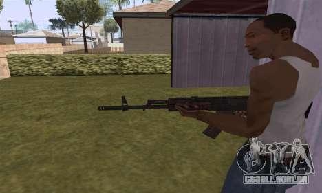 AK-12 para GTA San Andreas por diante tela