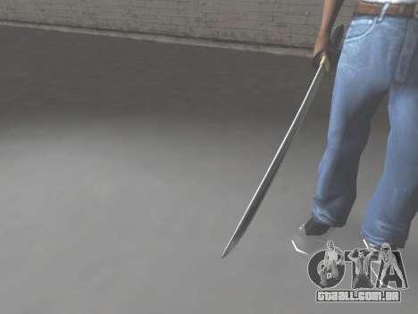 CSO Katana para GTA San Andreas terceira tela