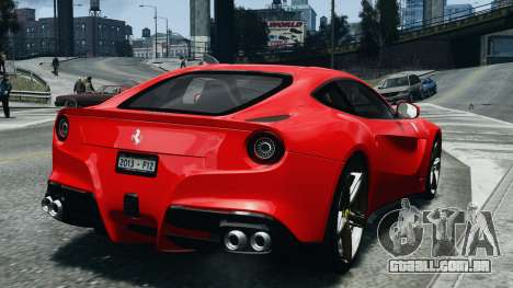 Ferrari F12 Berlinetta 2013 Modified Edition EPM para GTA 4 traseira esquerda vista