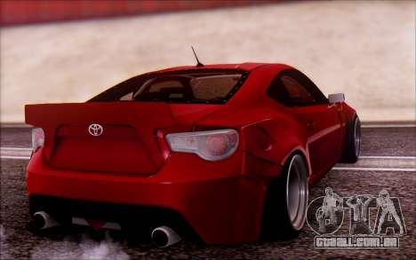 Toyota GT86 Rocket Bunny v2 para GTA San Andreas esquerda vista