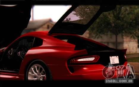 SRT Viper Autovista para GTA San Andreas vista inferior
